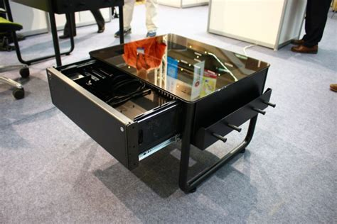 bureau boitier pc computex 2014 lian li dk q1x une table basse bureau