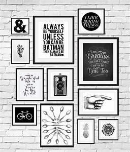 Cadre Deco Noir Et Blanc : citation deco mur cadre rectangulaire photo blanc et noir dessin v lo citation inspi ~ Melissatoandfro.com Idées de Décoration