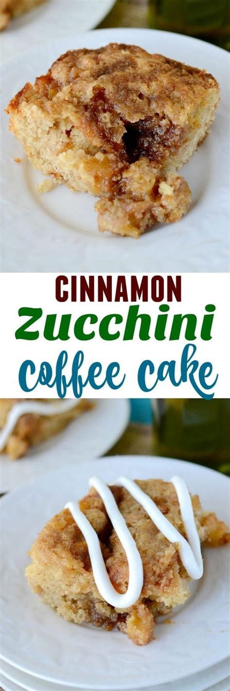 Pour yourself a coffee of cup or tea and enjoy! CINNAMON ZUCCHINI COFFEE CAKE - EASY RECIPES