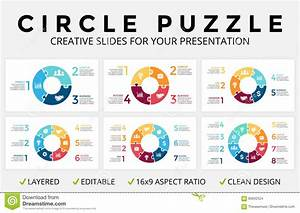 Vector Circle Arrows Infographic  Cycle Diagram  Puzzle Jigsaw Graph  16x9 Slide Presentation