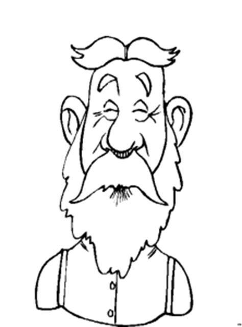 alter mann mit langem bart  ausmalbild malvorlage