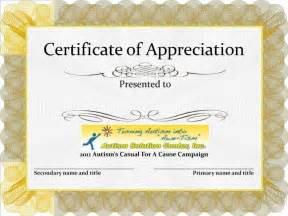 Appreciation Certificate Examples