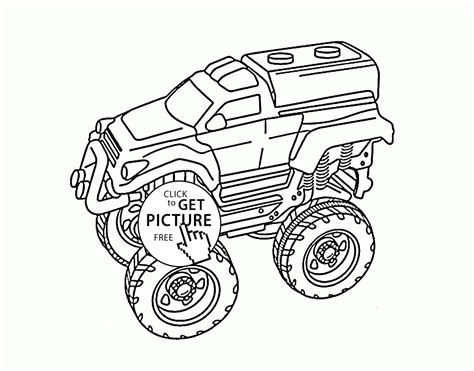 Monster Truck Coloring Pages For Adults Coloring Page