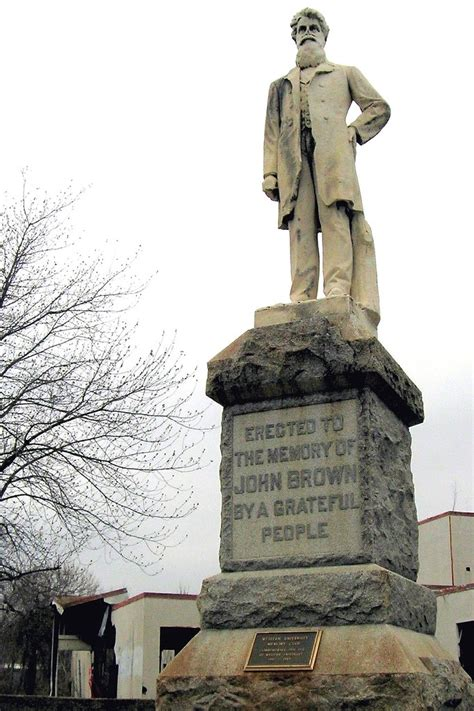 john brown statue stands   obscure location