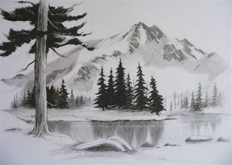 landscaping drawings landscape drawings landscapes and easy pencil drawings on pinterest