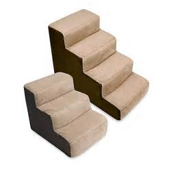 pet stairs for beds padded pet stairs www bedbathandbeyond