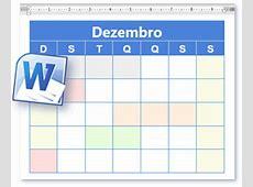 Modelo Calendário Calendário Em Branco e Para Imprimir