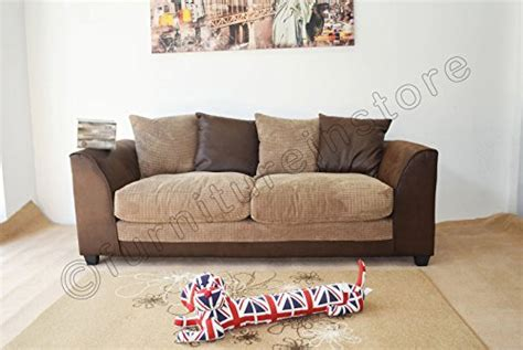Throwovers For Settees by Byron Brown And Beige Fabric Sofa Settee 3 2