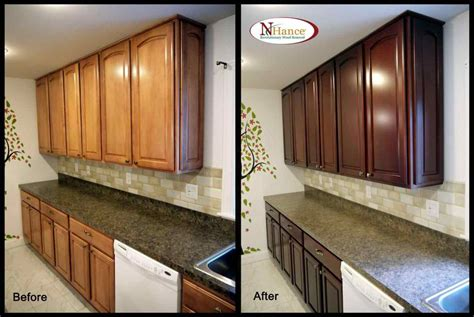 refinishing oak kitchen cabinets painting wood cabinets before and after deductour 4673