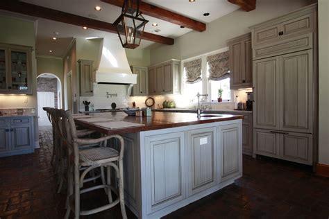 handmade custom kitchen  glazed cabinets  northshore