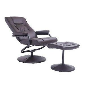 Comfortable Chairs With Ottomans by Leather Recliner And Ottoman Set Black Contemporary