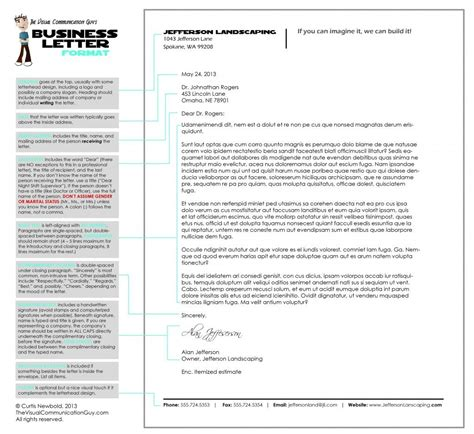 format  professional letter  business letter