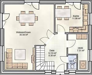 Grundriss Einfamilienhaus 140 Qm : landhaus grundriss mit ca 130 qm wohnfl che blohm gmbh ~ Markanthonyermac.com Haus und Dekorationen