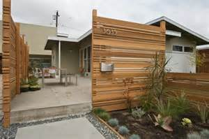 Modern Horizontal Wood Fence