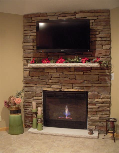 stack fireplace ideas fireplace with beautiful mantel decorating