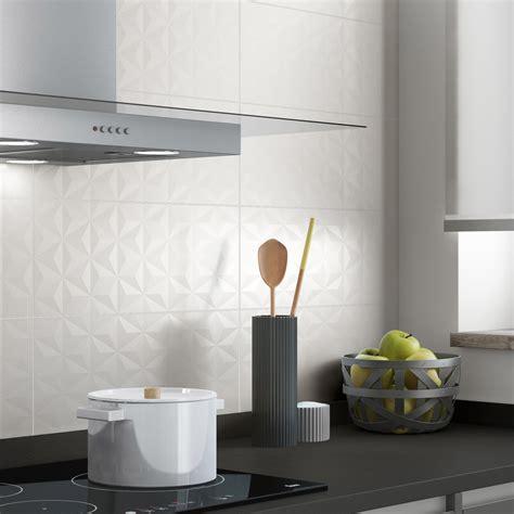 cuisine loft leroy merlin faïence mur blanc n 0 décor loft facette l 20 x l 50 2 cm