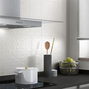Faience Metro Blanc : fa ence mur blanc n 0 d cor loft facette x cm ~ Farleysfitness.com Idées de Décoration