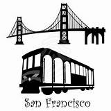Bridge Gate Golden Francisco San Cable Trolley Clipart Cars Overhead Drawing Brooklyn Stencils Illustration Cables Rope Clip Silhouette Illustrations Idea sketch template