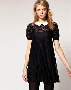 asos asos robe en dentelle avec col contrastant chez asos With www asos com robe