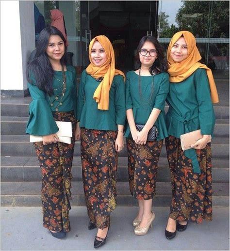 model baju batik pesta wanita muslim modern womens