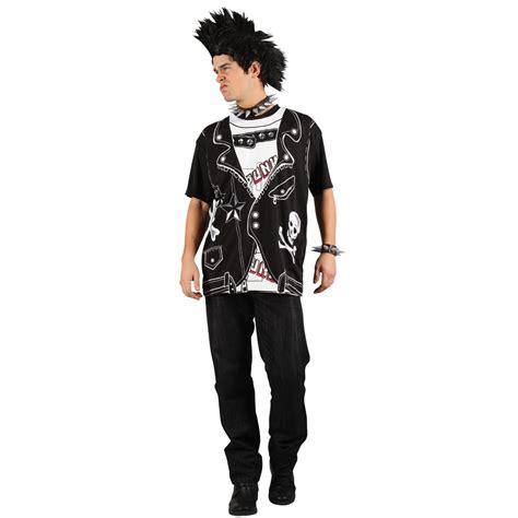 Mens EZ Punk Rocker Retro Fancy Dress T Shirt Print ...