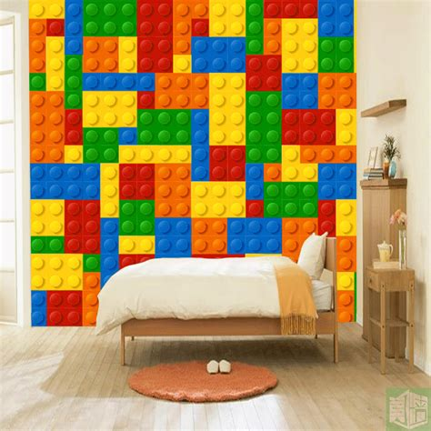 lego chambre de pics for gt lego brick wallpaper bedroom walls