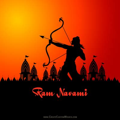 write   rama navami wishes images create custom wishes