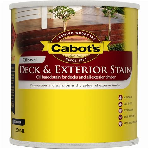 cabot s 250ml new jarrah deck exterior stain bunnings warehouse