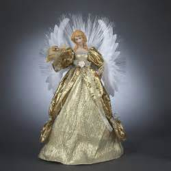 seasons of elegance deluxe gold lighted fiber optic angel christmas tree topper ebay