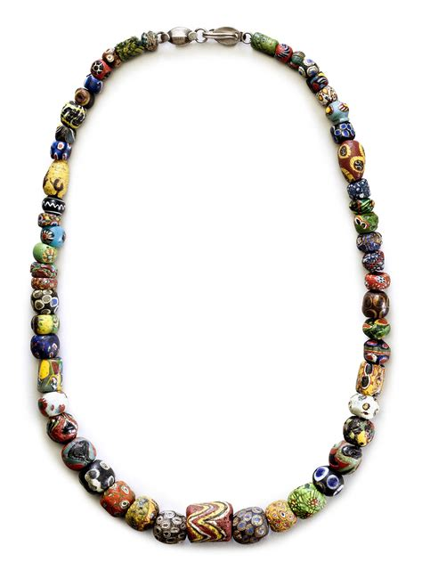 ancient mosaic glass bead necklace circa st