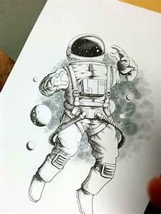 Astronaut On Moon Tattoo On Right Forearm