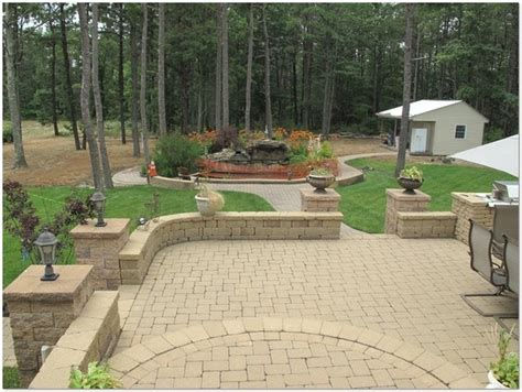 backyard patio paver designs home design ideas