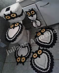 owl bathroom set crochet house decor ideas
