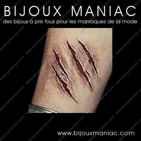 tatouage ephemere pour halloween cicatrices