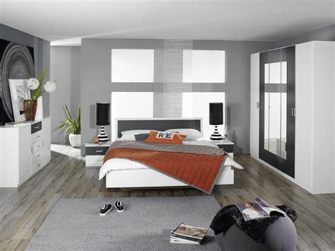 chambre design commode adulte design 2 portes 5 tiroirs blanche et grise