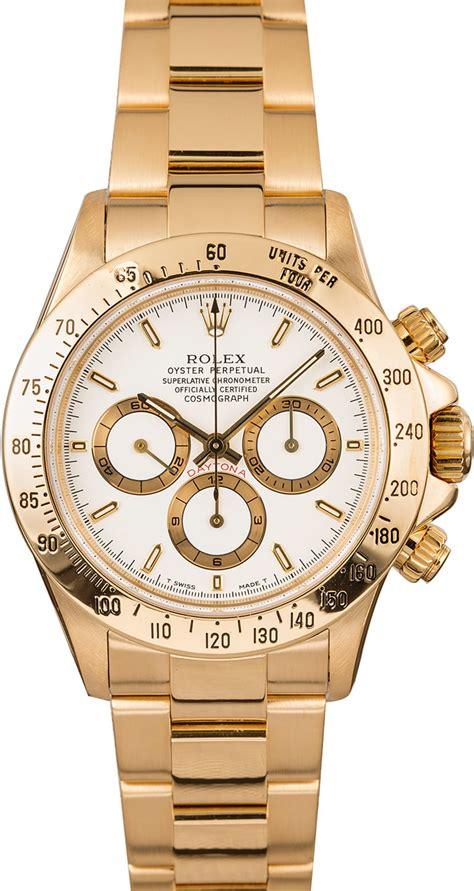 18K Yellow Gold Rolex Daytona White Dial for Sale | Bob's ...