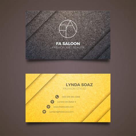 elegant business card  fashion stylist vector