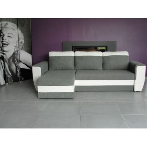vente flash canap d angle bestmobilier indiana blanc gris canapé d angle achat