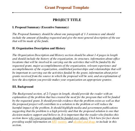 Grant Template 11 Grant Writing Templates Free Sle Exle Format
