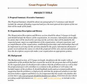 grant writing template 8 free word pdf ppt documents With writing a proposal for funding template