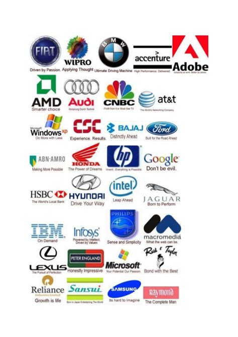 companies tag lines