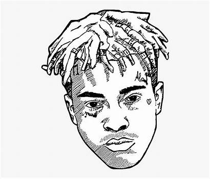 Xxxtentacion Coloring Clipart Background Drawing Rapper Sketch