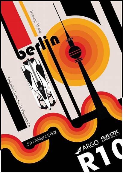 Bauhaus Poster Inspired Berlin Dragon Designed Prix