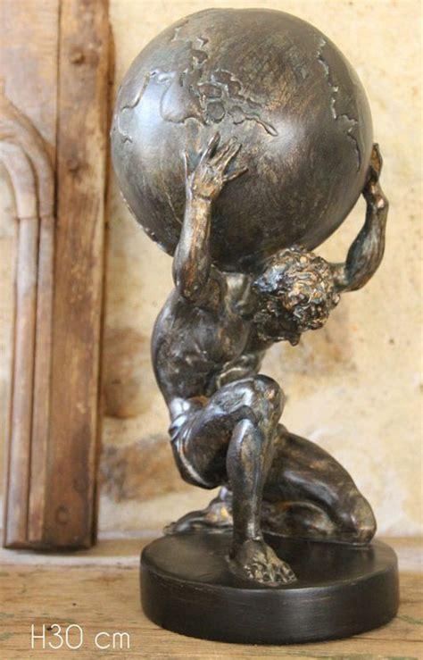 atlas portant le monde l 233 gende du titan mythologie couleur bronze 30cm gt japan attitude