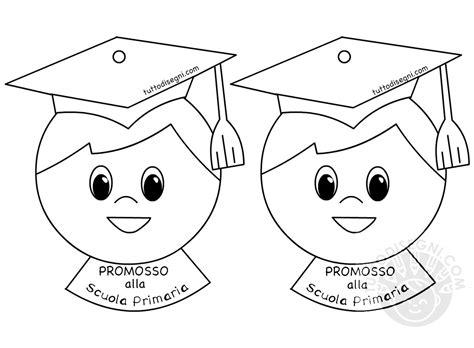 disegni bambini diplomati scuola infanzia medaglie con scritta promosso alla scuola primaria