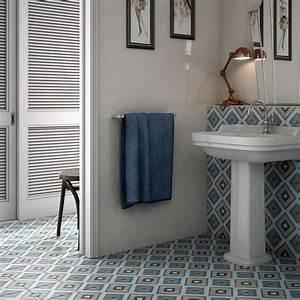 Carreaux Adhesif Salle De Bain : le carrelage imitation carreaux de ciment dans la salle de bain id e d co salle de bain ~ Melissatoandfro.com Idées de Décoration