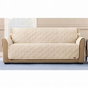 Sure fitr quilted corduroy sofa pet cover 292846 for Two dogs furniture covers