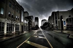 Empty City Road - wallpaper.