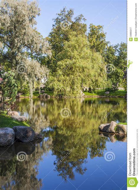 Japanischer Garten Tallinn by Autumn Landscape Stockbild Bild Landschaft Park
