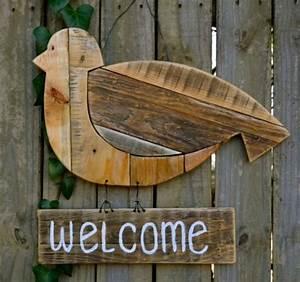 Holz Deko Garten : willkommen schild garten deko vogel aus holz selber basteln ideen rund ums haus pinterest ~ Orissabook.com Haus und Dekorationen
